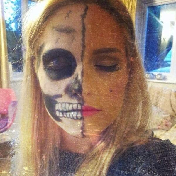 Marilyn Monroe Skull Face ~ Halloween Makeup