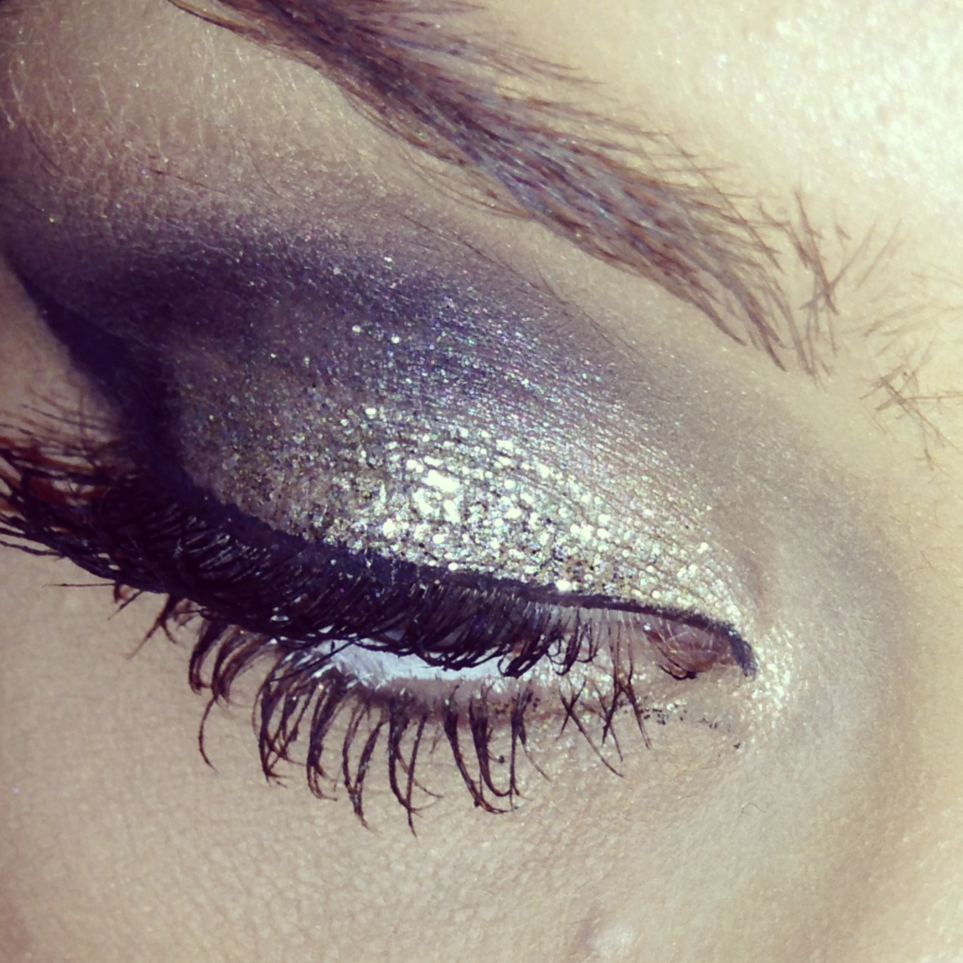 Glitter Smokey Eye ~ Urban Decay Heavy Metal