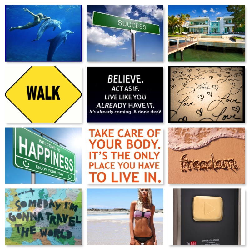 A Vision Board & Positive Thinking!