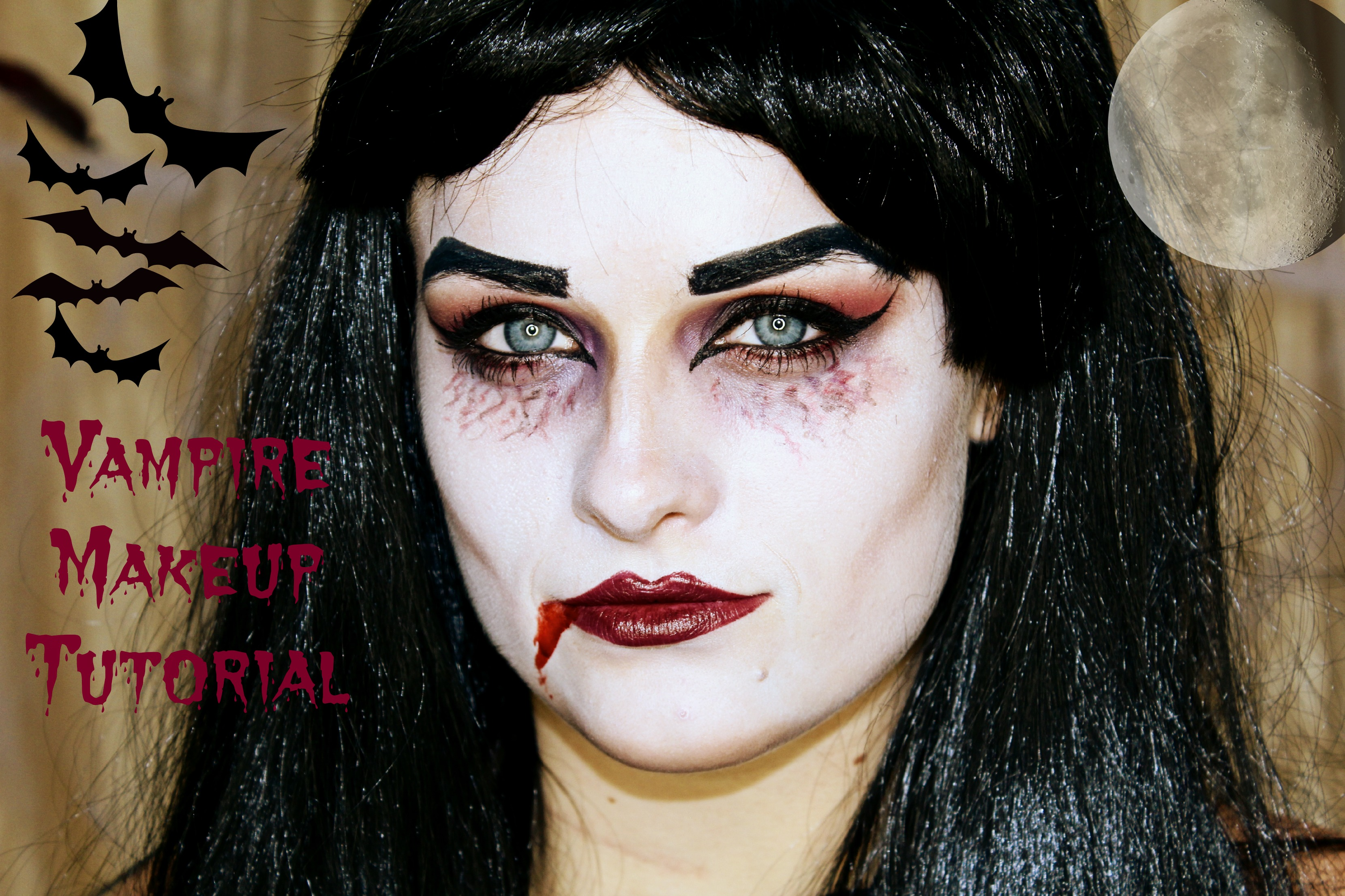 Get The Look & Tutorial: Vampire Halloween Makeup