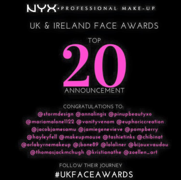 NYX UK Face Awards TOP 20!!!